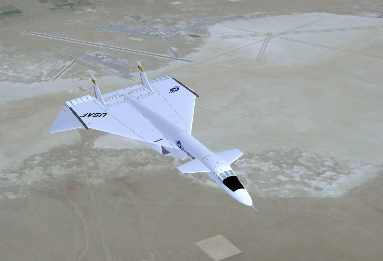 North American XB-70 'Valkyrie' over Edwards AFB